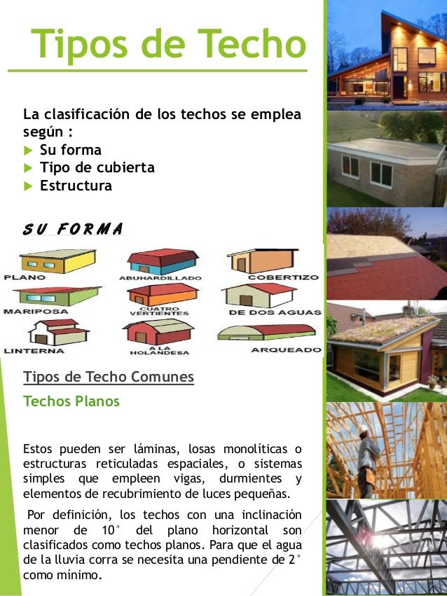 Revista de techos for Tipos de techos de lamina