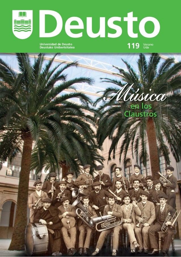 Universidad de Deusto Deustuko Unibertsitatea Verano Uda119 Deusto MúsicaMúsicaen los Claustros