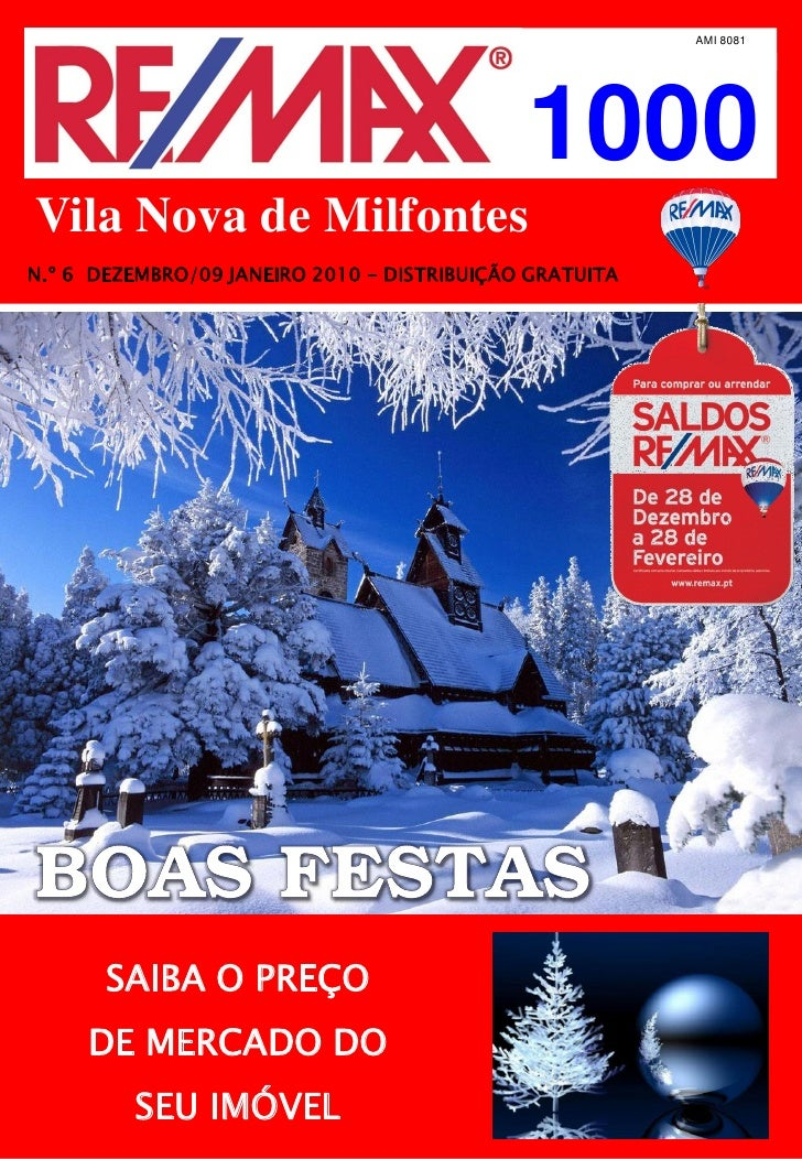 AMI 8081                                                  1000 Vila Nova de Milfontes N.º 6 DEZEMBRO/09 JANEIRO 2010 – DIS...