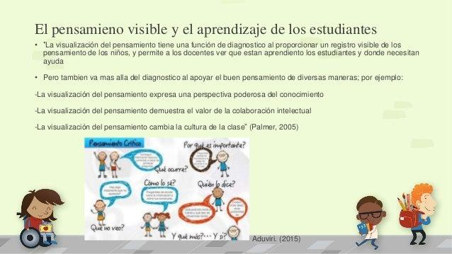 """El pensamieno visible y el aprendizaje de los estudiantes • """"La visualización del pensamiento tiene una función de diagnos..."""