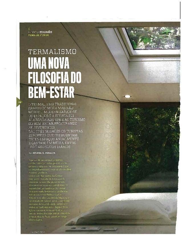 Revista do Montepio inverno 2013 Termalismo - Miguel Guedes de Sousa