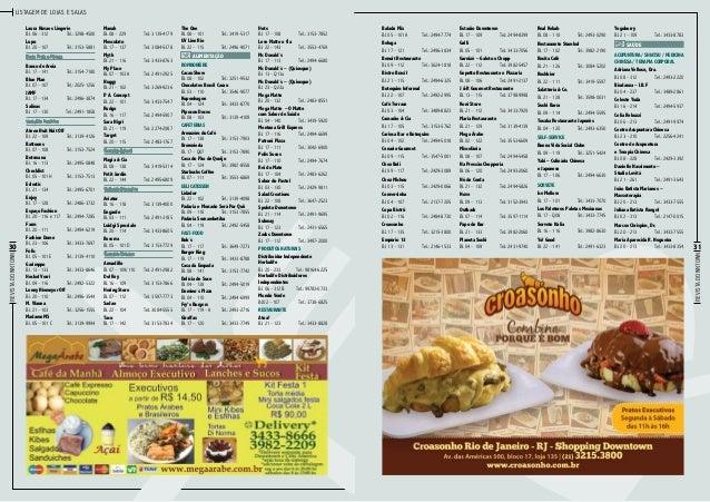 Listagem de lojas e salas  Moda Praia e Fitness Banco de Areia Bl. 17 – 141Tel.: 3154-7180 Blue Man Bl. 07 – 107Tel.: 20...