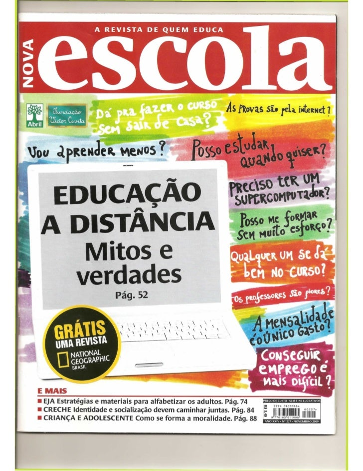Revista educação ead mitos e verdades