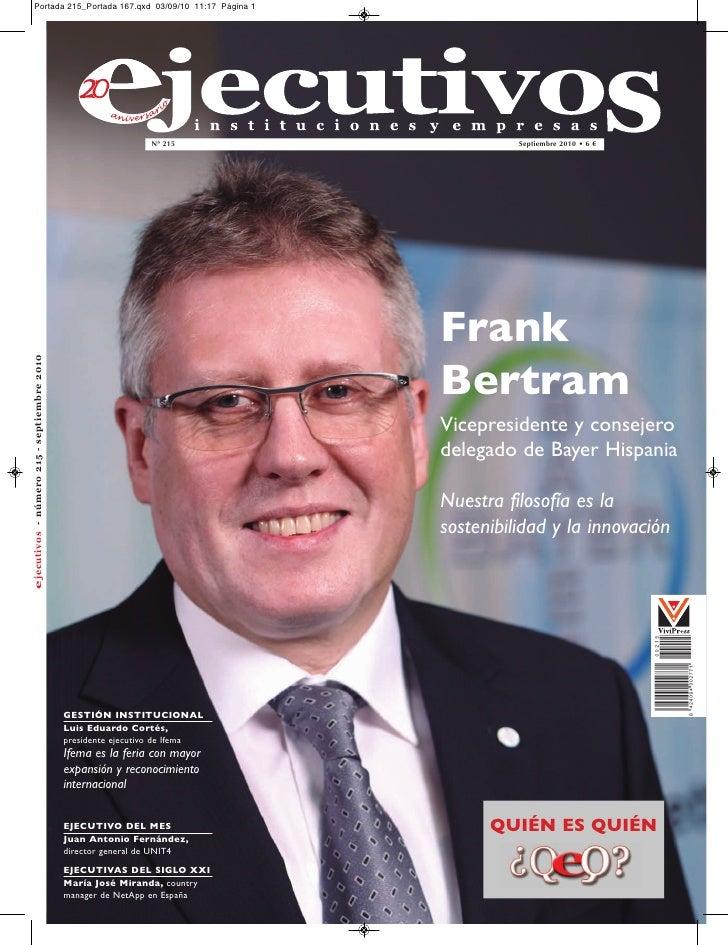 Nº 215                  Septiembre 2010 • 6 €                                Frank                                Bertram ...
