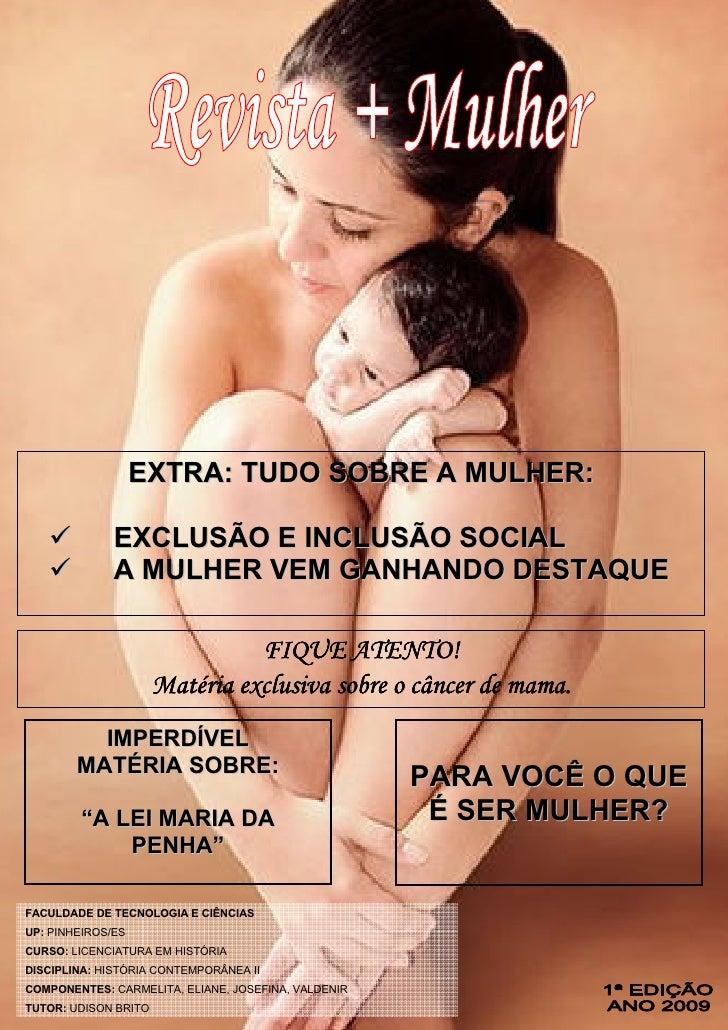 Revista eletrônica + Mulher