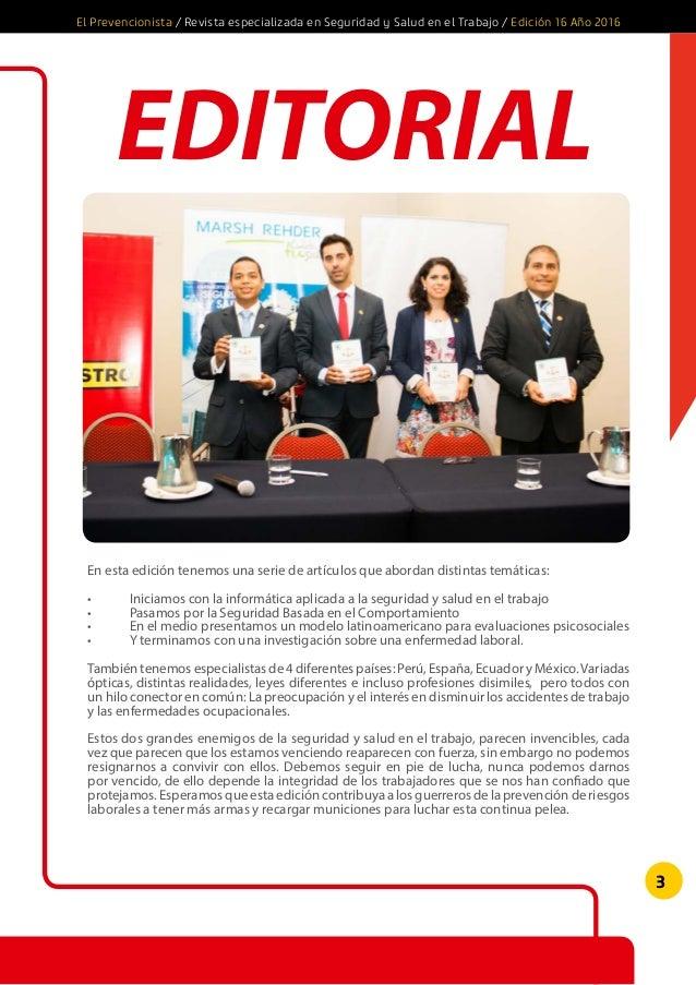 Revista El Prevencionista 16ava edicion