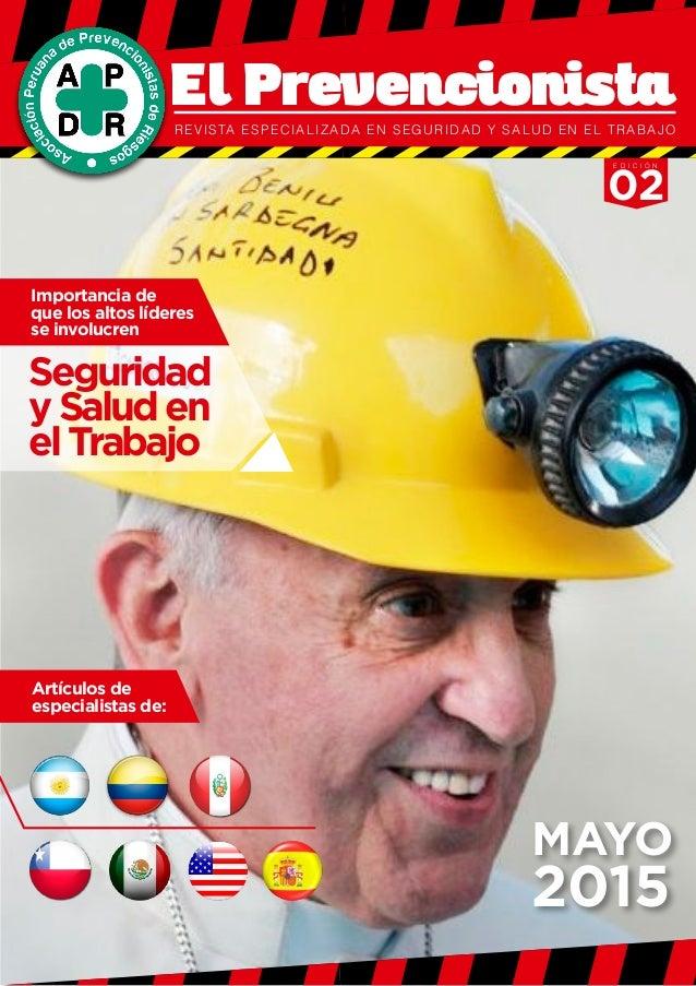 PÁG El Prevencionista   Revista especializada en Seguridad y Salud en el  Trabajo   Edición 02 ... e9371cac4c