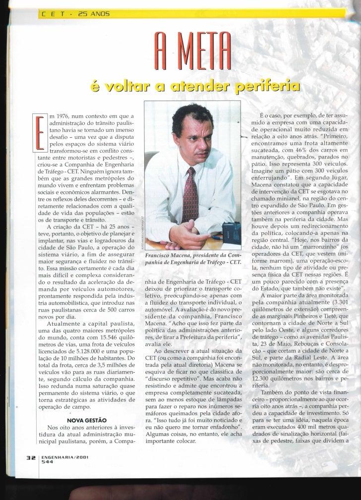 Revista Engenharia 544 - 2001 - CET 25 anos