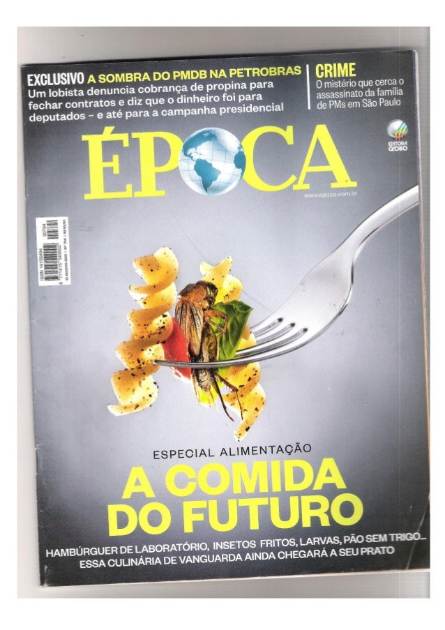 Revista epoca a comida do futuro