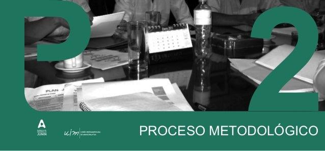 II. PROCESO METODOLÓGICO La planificación estratégica se desarrolla a través de un proceso metodológico que incluye una se...