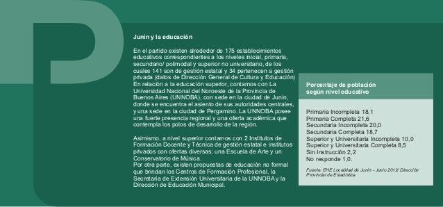 Dimensión cultural a nivel local En la ciudad de Junín se ha construido un espacio cultural a través de subespacios, circu...