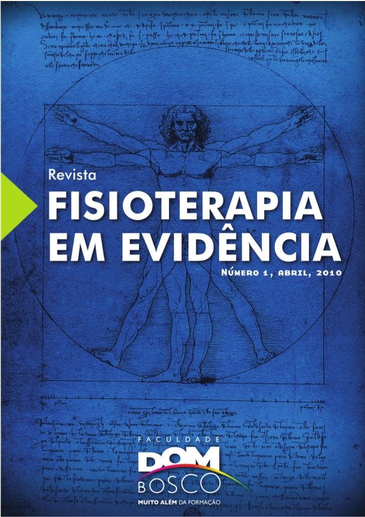Revista FISIOTERAPIA EM EVIDÊNCIA – abril 2010   1
