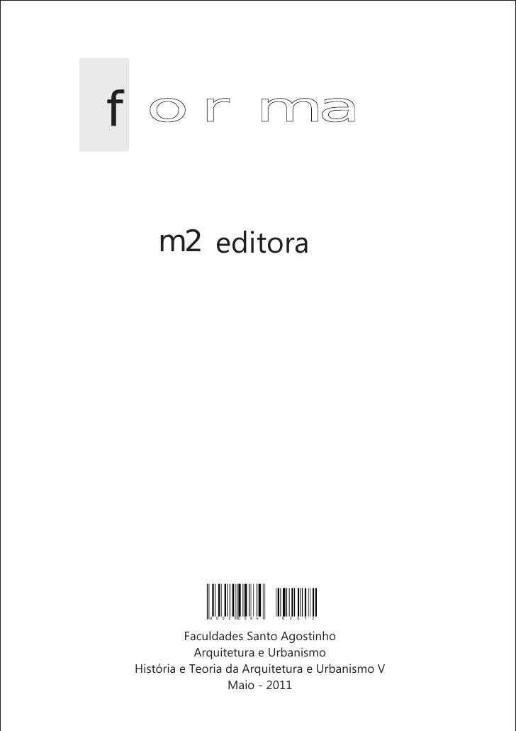 f orma    m2 editora             0 0 0 2   0 0 8 4   0 2 0 1 2          Faculdades Santo Agostinho            Arquitetura ...