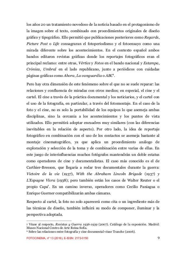Fotografía y Guerra Civil Española: del Instante a la Historia