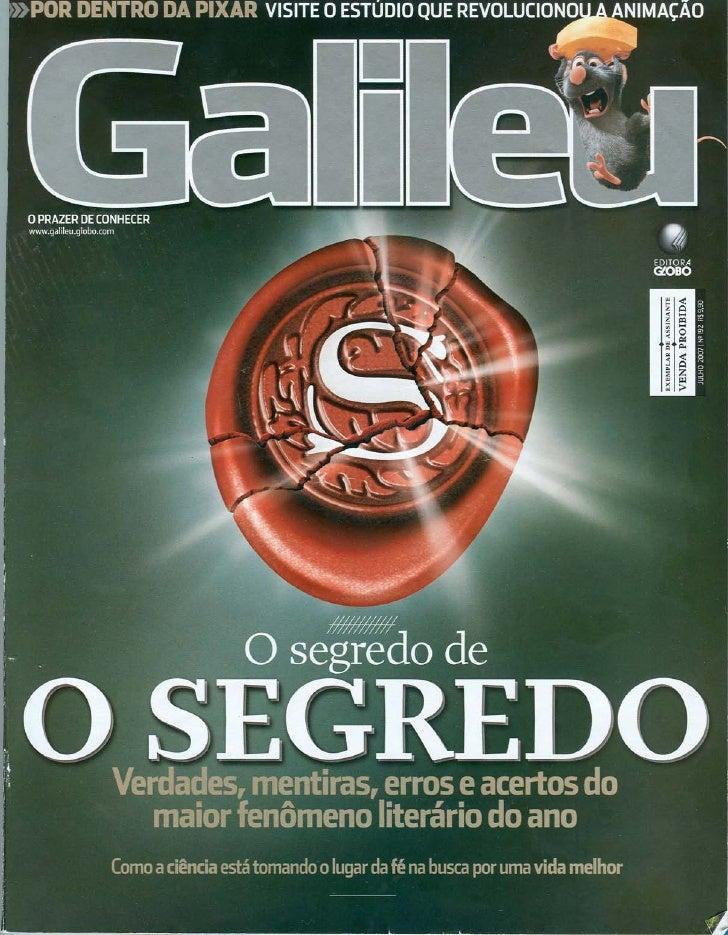 Revista galileu   O Segredo