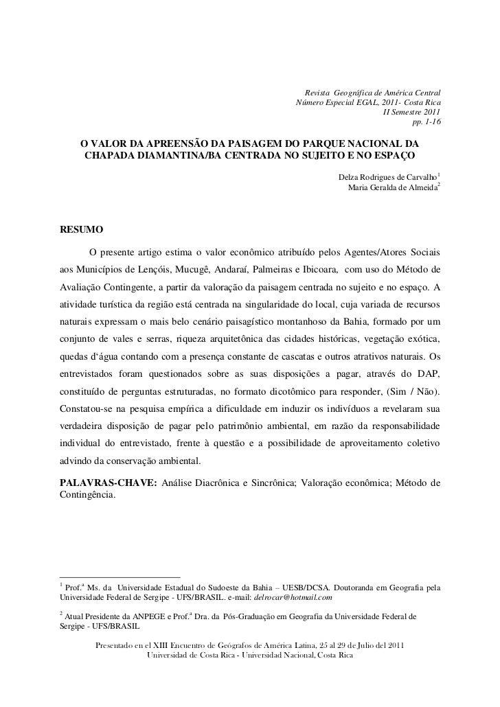 Revista Geográfica de América Central                                                                   Número Especial EG...