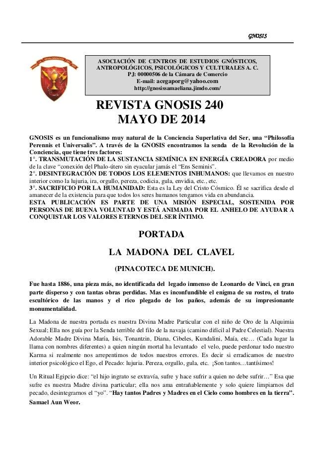 Revista gnosis 240 mayo año 2014 (7) Slide 2