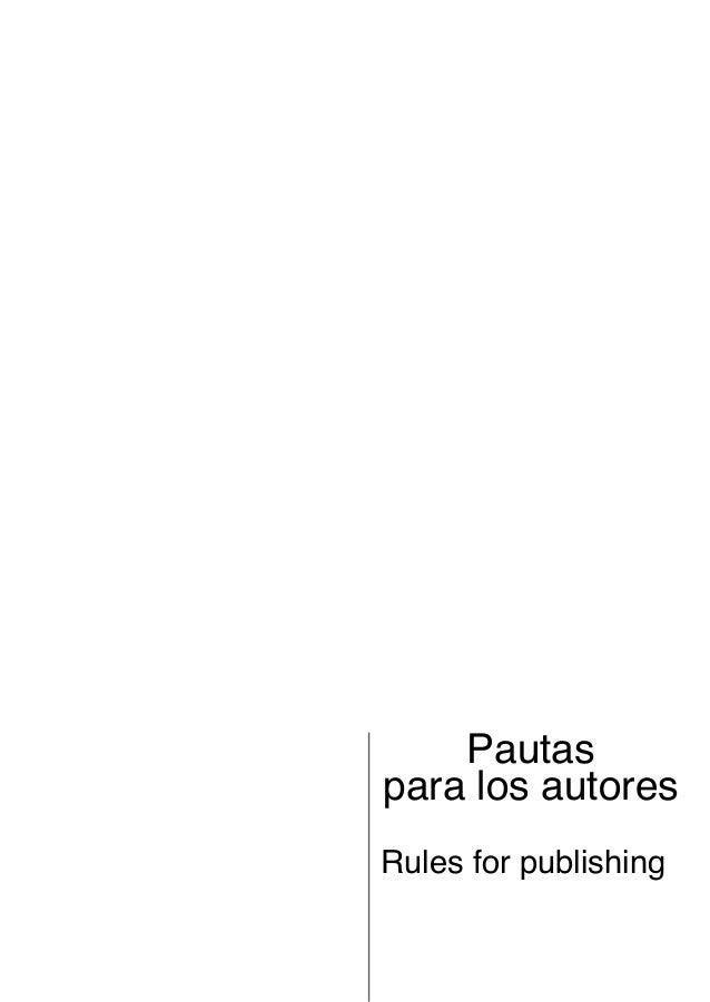Pautaspara los autoresRules for publishing