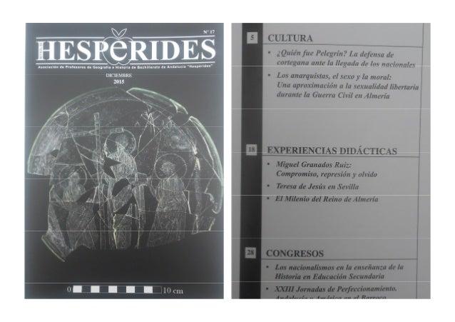 Resultado de imagen de revista hesperides