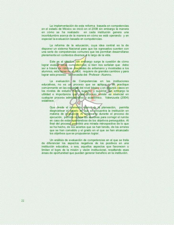 La implementación de esta reforma basada en competencias     en el estado de México se inició en el 2008 sin embargo la ma...