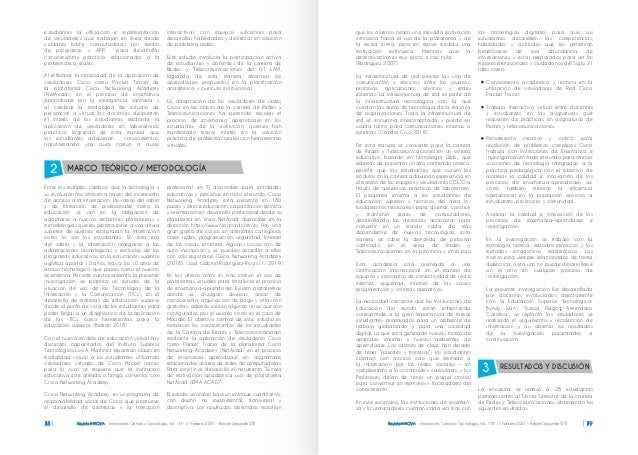 Revista INNOVA Innovación, Ciencia y Tecnología, Vol. 1 Nº 1 / Febrero 2021 - Edición Segunda ISTB 18 Revista INNOVA Innov...