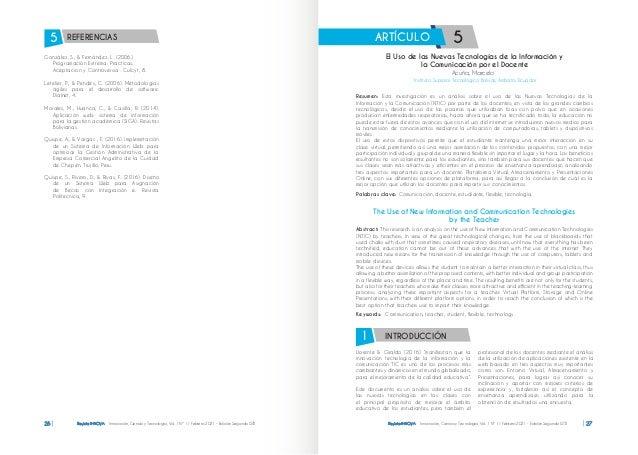 Revista INNOVA Innovación, Ciencia y Tecnología, Vol. 1 Nº 1 / Febrero 2021 - Edición Segunda ISTB 26 Revista INNOVA Innov...