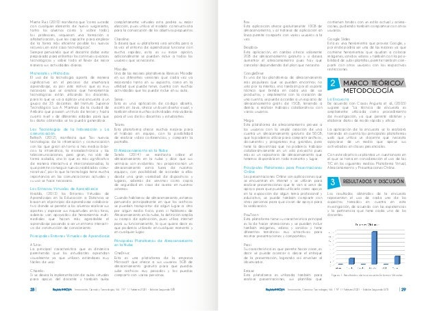 Revista INNOVA Innovación, Ciencia y Tecnología, Vol. 1 Nº 1 / Febrero 2021 - Edición Segunda ISTB 28 Revista INNOVA Innov...