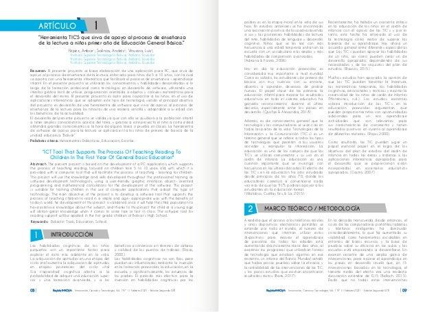 Revista INNOVA Innovación, Ciencia y Tecnología, Vol. 1 Nº 1 / Febrero 2021 - Edición Segunda ISTB 08 editorial Las habili...