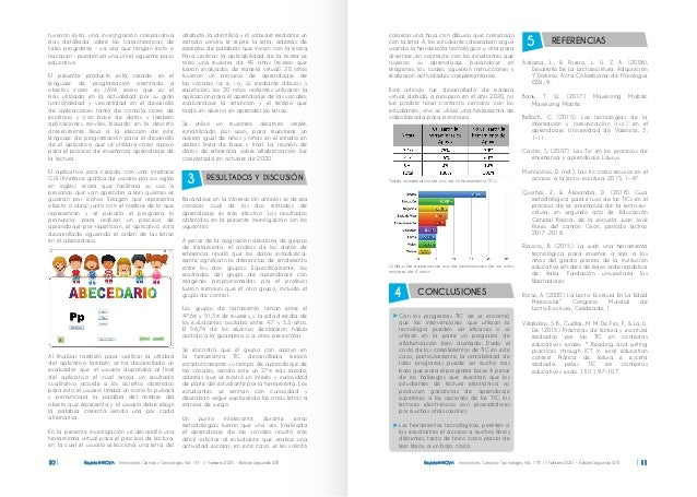 Revista INNOVA Innovación, Ciencia y Tecnología, Vol. 1 Nº 1 / Febrero 2021 - Edición Segunda ISTB 10 tuvieron éxito, una ...