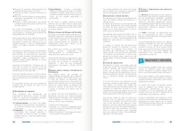 Revista INNOVA Innovación, Ciencia y Tecnología, Vol. 1 Nº 1 / Febrero 2021 - Edición Segunda ISTB 14 Memoria de programa:...
