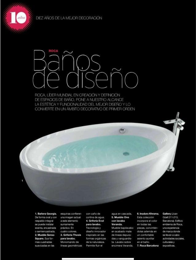Lavabo Veranda De Roca.Revista Interiores Marzo 2010