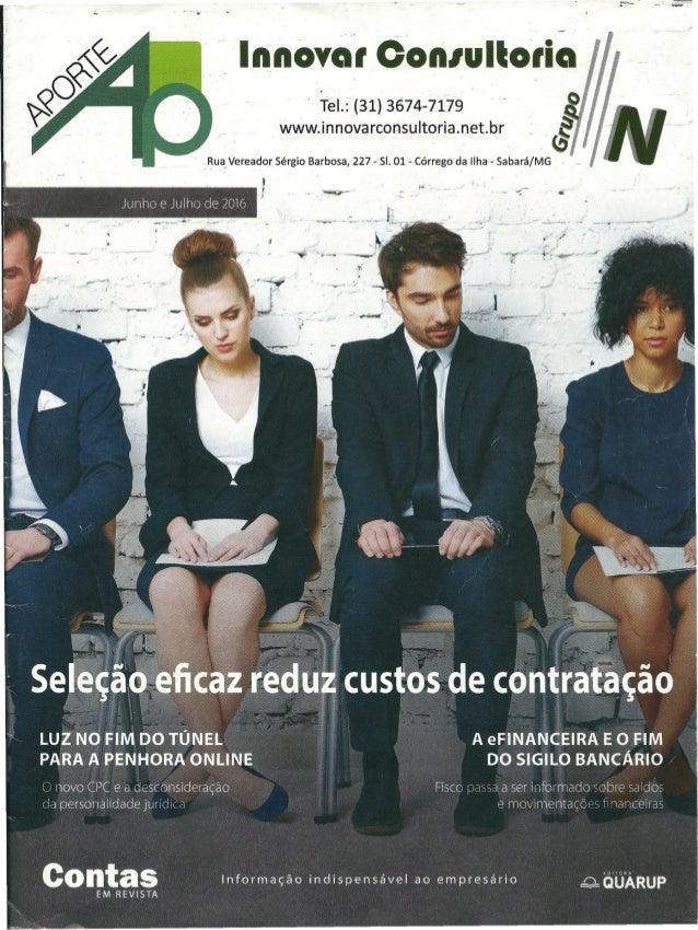 """·- """" Innoyal Con/ult-olia Tel.:-(31) 3674-7179 www.innovarconsultoria.net.br"""