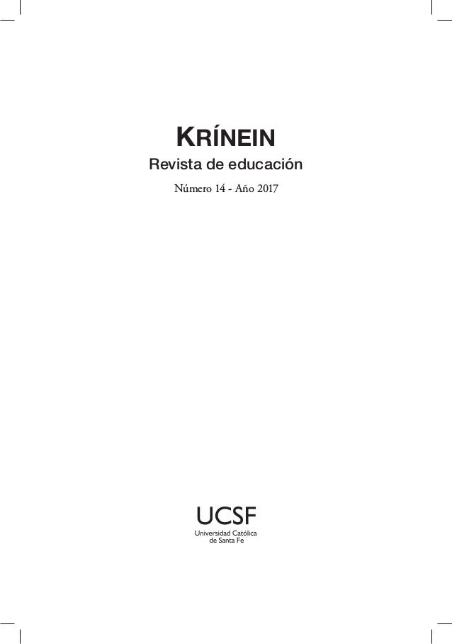 KRÍNEIN Revista de educación Número 14 - Año 2017