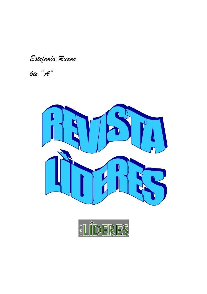 """Estefanía Ruano6to """"A"""""""