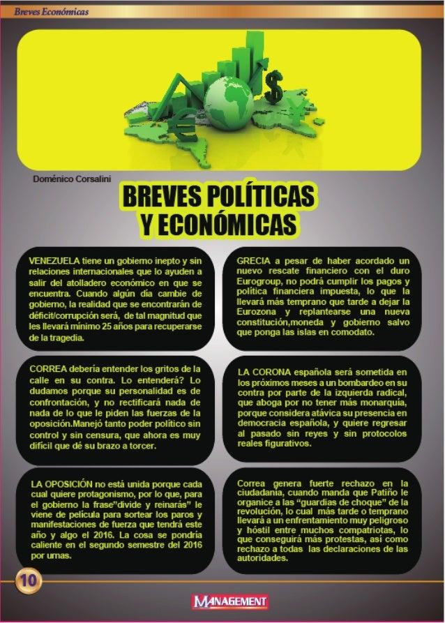 f,  ,? ..vI_  VENEZUELA tiene un go-biemo inepto y sin relaciones intemacic-nales que lo ayuden a salir del atolladero eoo...