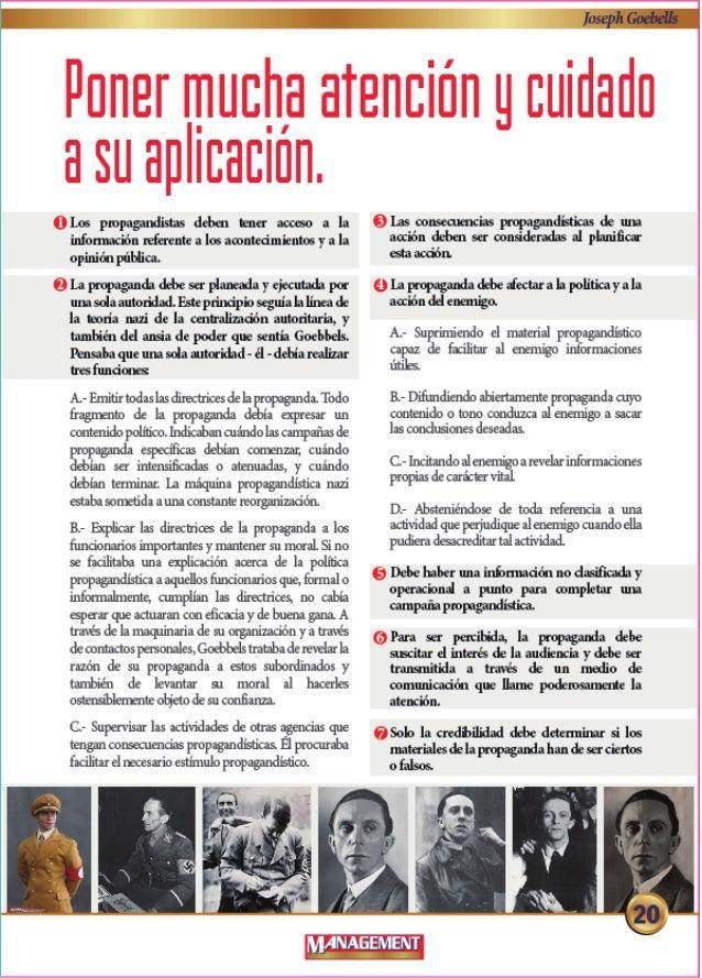 -> v  Los propagandistns debeu tenet acoeso a In infonmcion referent:  a Ios acontedmientos y a In  opinion   Qlapropagand...