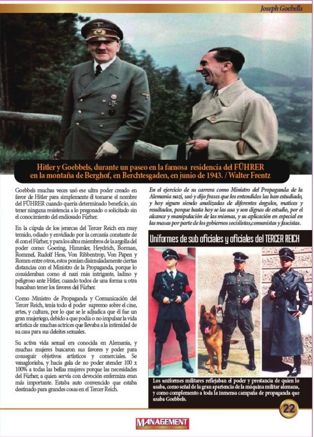 Hitler y Goebbels.  durante un paseo en la famosa residencia del FUH RER en la montafia de Berghof,  en Berditesgaden,  en...
