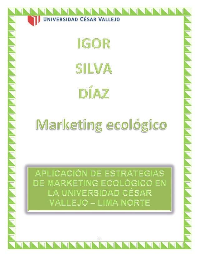 Revista marketing ecológico Slide 2