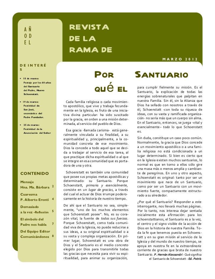 AÑ                               REVISTA    OD                               DE LA    EL    SANTUA                        ...
