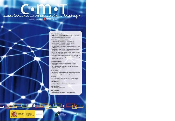cuadernos DEL mercado DE Trabajo          D           D          edición semestral   6   ENERO 2011                       ...