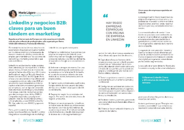 LinkedIn y negocios B2B: claves para un buen tándem en marketing