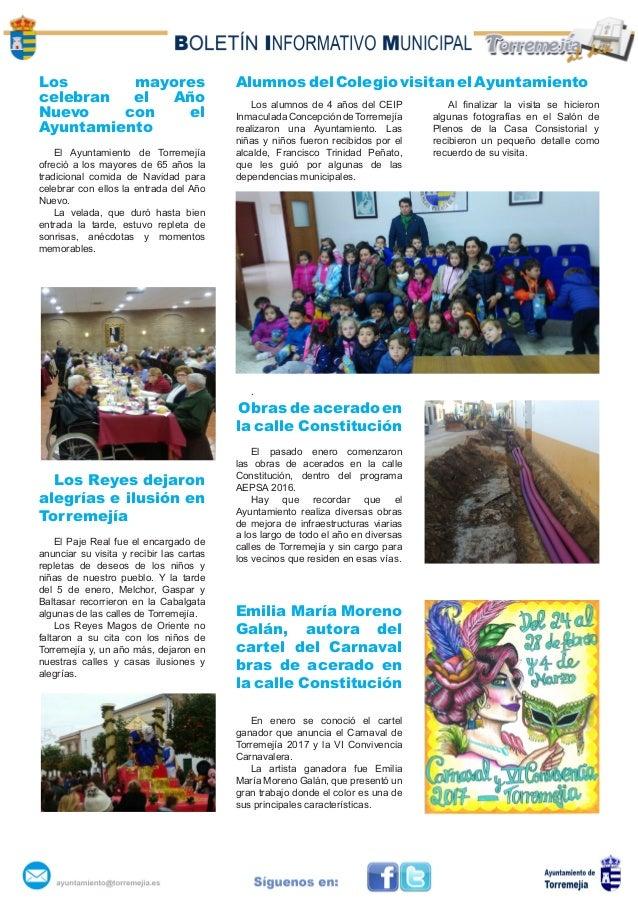 Los mayores celebran el Año Nuevo con el Ayuntamiento El Ayuntamiento de Torremejía ofreció a los mayores de 65 años la tr...