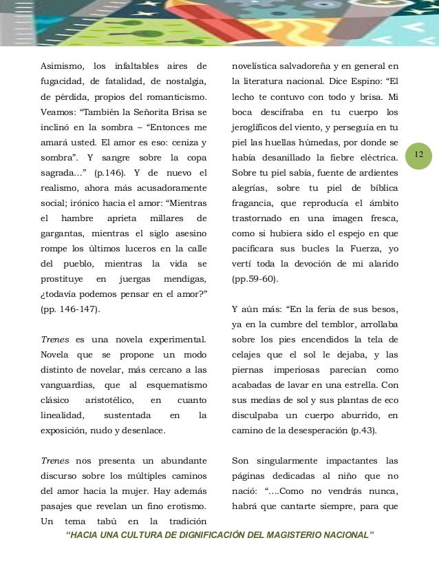 """""""HACIA UNA CULTURA DE DIGNIFICACIÓN DEL MAGISTERIO NACIONAL"""" 12 Asimismo, los infaltables aires de fugacidad, de fatalidad..."""