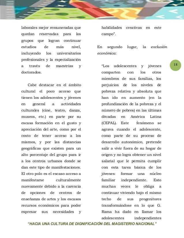 """""""HACIA UNA CULTURA DE DIGNIFICACIÓN DEL MAGISTERIO NACIONAL"""" 18 laborales mejor remuneradas que quedan reservadas para los..."""
