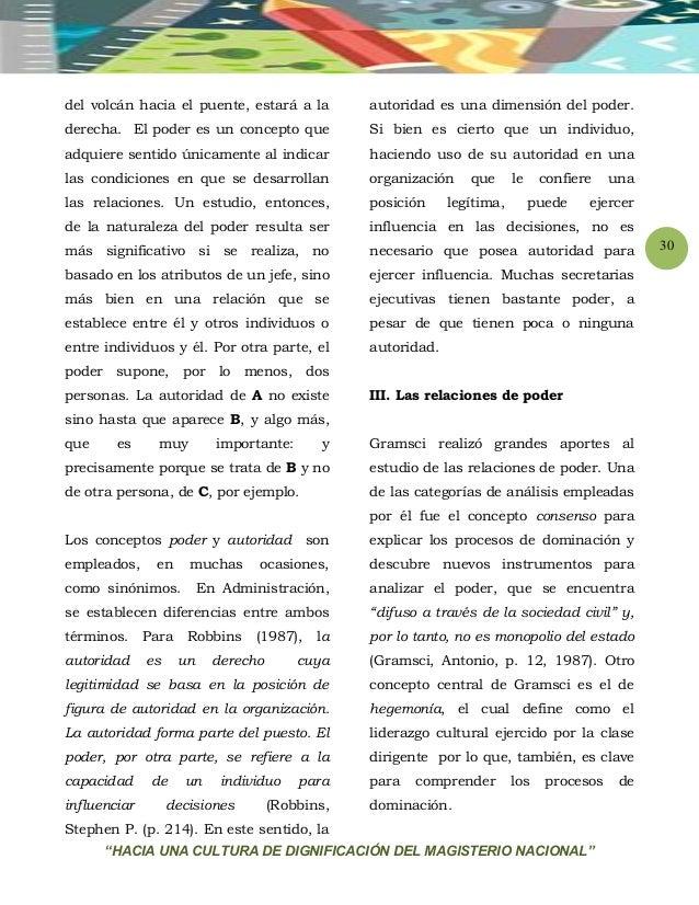 """""""HACIA UNA CULTURA DE DIGNIFICACIÓN DEL MAGISTERIO NACIONAL"""" 30 del volcán hacia el puente, estará a la derecha. El poder ..."""