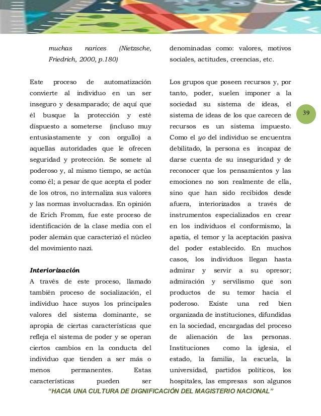 """""""HACIA UNA CULTURA DE DIGNIFICACIÓN DEL MAGISTERIO NACIONAL"""" 39 muchas narices (Nietzsche, Friedrich, 2000, p.180) Este pr..."""