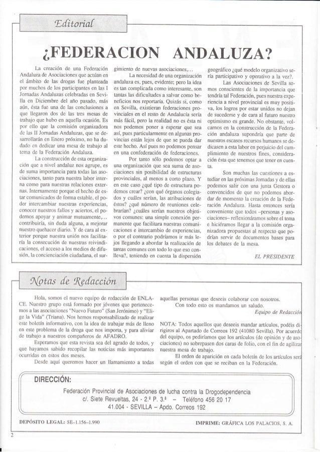 Revista nº 1 octubre 1990 de la Federación ENLACE Slide 2
