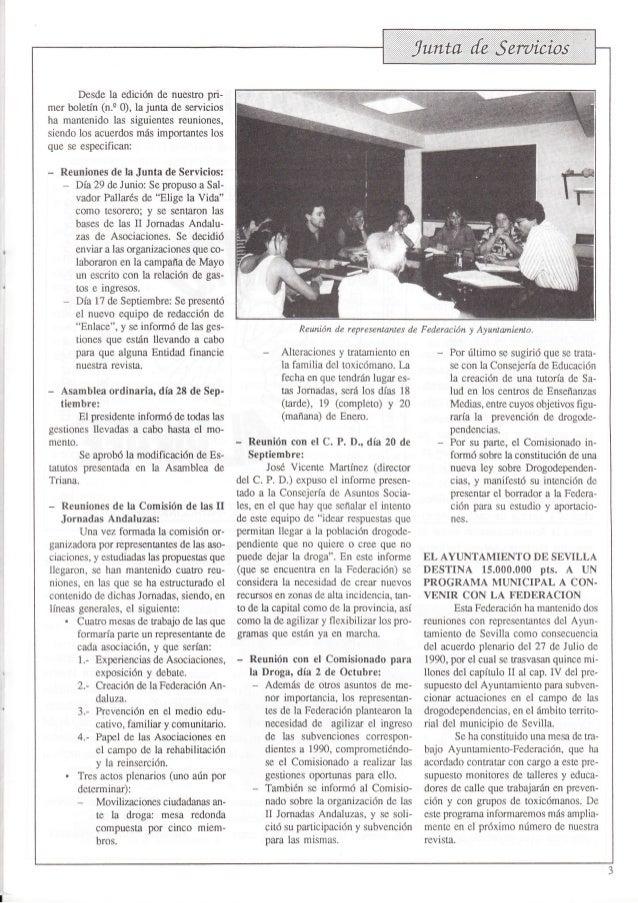 Revista nº 1 octubre 1990 de la Federación ENLACE Slide 3