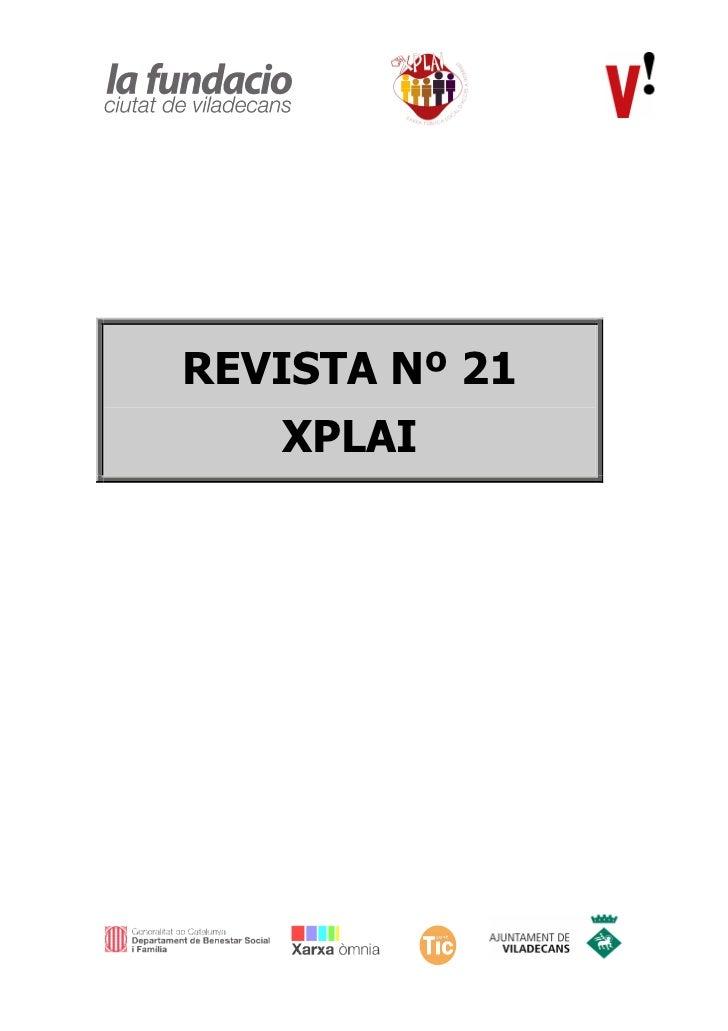 REVISTA Nº 21   XPLAI