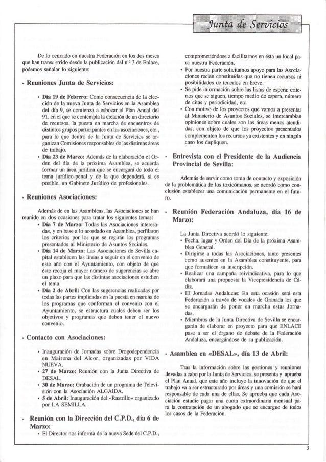 Revista nº 4 abril 1991 de la Federación ENLACE Slide 3